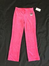 NWT Girl Kohls JUICY COUTURE sz XS Tracksuit Velour Running Pants Hot Pink Suit