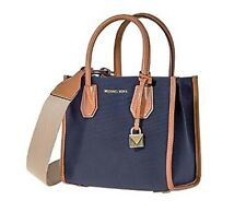 MICHAEL Michael Kors Women's Mercer Medium Messenger Satchel Handbag, admiral