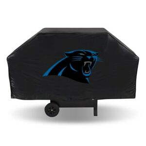 """CAROLINA PANTHERS ECONOMY GRILL COVER DURABLE VINYL 68"""" BBQ COVER"""