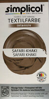 "Simplicol Textilfarbe intensiv all in 1 -Flüssige Rezeptur ""Safari-Khaki""Neu!"