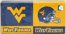 West Virginia Mountaineers 150 Count Luncheon Napkins 3 Ply Ncaa Tailgating