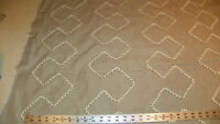 Beige Cream Abstract Print Upholstery Fabric  1 Yard  R505