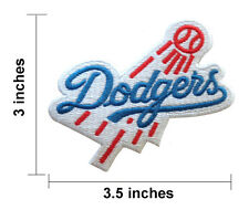 Vintage LA Los Angeles DODGERS Baseball Logo Patch Cotton Stitched Embroidered