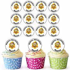 Paw Patrol Rubble 24 Personalizzati Pre-Tagliati Commestibili Cupcake Topper Ragazza Ragazzi Feste