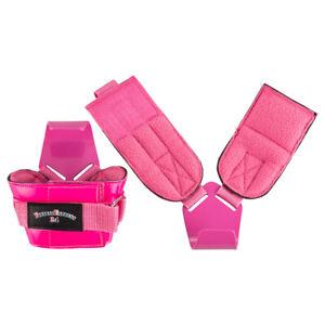 Zughilfen Klimmzughaken Latzughilfen Griffhilfen Neonpink u Pink lakierten Haken