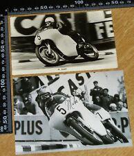 2 x SIGNED MIKE DUFF – 1964 Junior Isle of Man TT – Arter Brothers 350 AJS. IoM