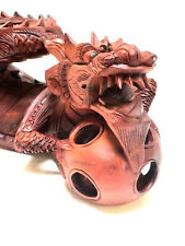 """Dragon 20"""" Holding the Sun Hand Carved Wood Bali Statue Sculpture Figurine Art"""