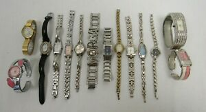 Job Lot of Vintage Modern Thin Ladies Watches 14 x Sekonda, Timex, DKNY - DOW C1
