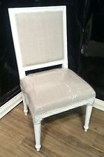 Steven Shell London Dining Chair W Lion Head White Crackle Gothic Set Of 4