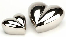 "Margate Nickel Heart 5"" Cremation Ashes Keepsake Urn UU420004A"