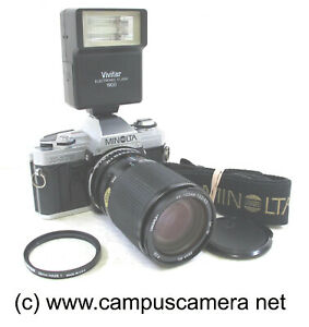 Minolta X-370 35mm SLR Manual Focus Film Camera w/35-135mm Zoom Lens VERY NICE!!