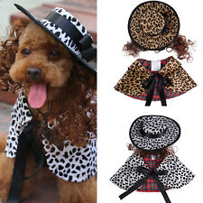 Puppy Cat Pet Dog Leopard Hat Cloak Clothes Party Costumes Cosplay Apparel Coat