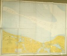 VINTAGE NAUTICAL CHART MAP VA VIRGINIA CHESAPEAKE BAY Cape Henry to Thimble Lt