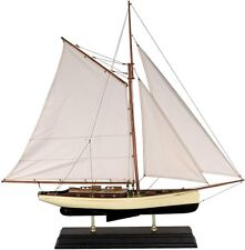 1930's Classic Yacht Large Sailboat Model Ship AS135 Nautical Decor on stand NEW