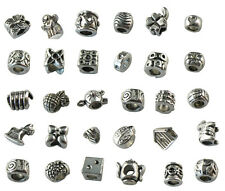 30PCS European Style Assorted tibetan silver beads fit charm bracelet
