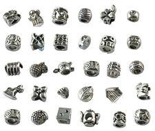 30PCS European Style Assorted tibetan silver beads fit charm bracelet