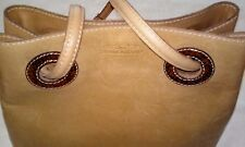 Tramontano Napoli Spa - Camel/Tan, Leather & Brown Snakeskin Trim (90's Handbag)