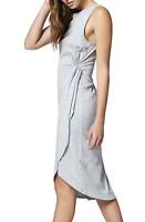 Sanctuary Women's S Small Salma Gray Asymmetric Casual Daytime Dress $89 NWT