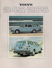 Volvo 200 Series Estate 245 265 1978-79 UK Market Sales Brochure DL GL GLE