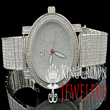 Genuine Diamond JoJino JoJo Joe Rodeo Iced Out 9 Row Band Mens Diamond Max Watch
