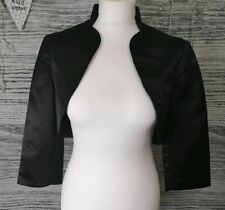 Debut Black Satin Stand Up Collar Bolero Size 8
