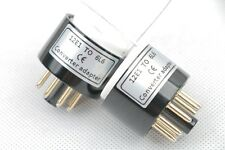 1pc Gold plated 12E1 6GW6 Instead 6L6 KT88 tube converter adapter