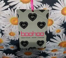 Brand New Boohoo Daisy Print Dress Size 12 Navy With Flowers