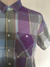 VTG 80s ~ PETER B Button Up Shirt ~ Pastel Plaid ~ White Buttons ~ L ~ Indie