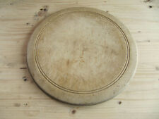 Round Bread Board - Vintage  / Antique Elm Wood 11""