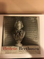 JASCHA HEIFETZ  Beethoven Sonatas 3 & 6 Emanuel Bay at the piano LP