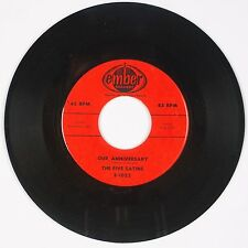 THE FIVE SATINS: Our Anniversary / Pretty Baby USA EMBER Doo Wop R&B 45
