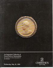 Christie's Important Collection Simon Bolivar Memorabilia New York May 18 1988