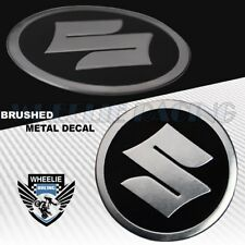 "BRUSHED ALUMINUM 2.125"" 3D YAMAHA METAL BADGE LOGO EMBLEM FENDER STICKER DECAL"