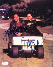 James Gandolfini & Federico Castelluccio SOPRANOS Signed 8x10 Photo JSA Z70820