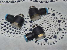 Three (3) Festo QSLV-G1/4-8 Elbow Connector G 1/4 Male Push In 8 mm NEW!