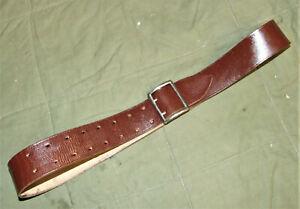 NVA rotbraunes Lederkoppel für Offiziere, getragen, nutzbare Länge 110cm