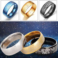 1PC Unisex Titanium Steel Jewelry Muslim Hot Casual New Fashion Ring Men Women