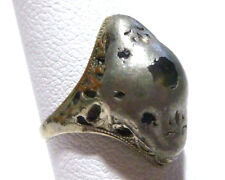 VICTORIAN STERLING SILVER & BASE METAL STANHOPE LIKE BLUE SAPPHIRE ESTATE RING