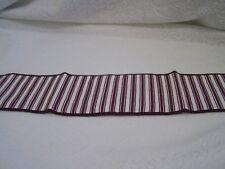 Longaberger basket Handle Tie Purple Ticking Nib