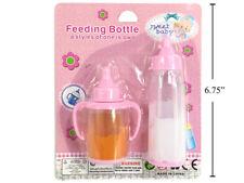 Pink Baby Doll Bottle Disappearing Magic Milk Bottle & Orange Juice Cup Pretend
