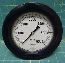 "4 1/2"" Marsh Instrument co 0-6000 psi Hydraulic Gauge 1/2 Npt"