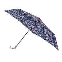 Totes Navy & Pink Grafitti Miniflat Umbrella 8936HEF BRAND NEW