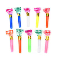 10Pcs Multi Color Party Blowouts Whistles Kids Birthday Party Favors Toys liau