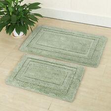 Lavish Home 2 Piece Memory Cotton Interlayer Bathroom Mat Floor Carpet Rug Set