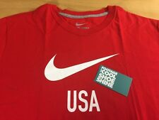 Nike Sportswear NSW USA Soccer Team Tee Shirt Red XL Regular Fit Futbol