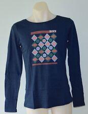 Roxy Women Long Sleeve Printed T Shirt - BLUE - SIZES - M ,L & XL - NEW