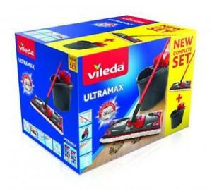 Vileda UltraMax Komplett-Set Bodenwischer und Eimer mit PowerPrese