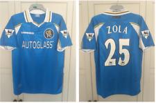 Zola 25 1997 1998 1999 Chelsea Home Shirt Autoglass Football Jersey Size Large
