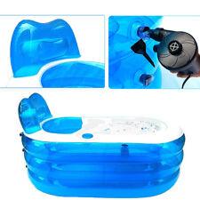 Portable Inflatable Adult PVC Warm Bath Bathtub Foldable Indoor Bathroom SPA AU