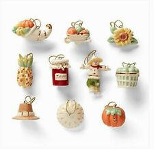 Lenox Autumn Favorites 10-Piece Mini Tree Ornaments Set for Fall NEW IN BOX
